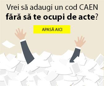 Cate coduri CAEN pot fi adaugate prin procedura de adaugare cod CAEN 2